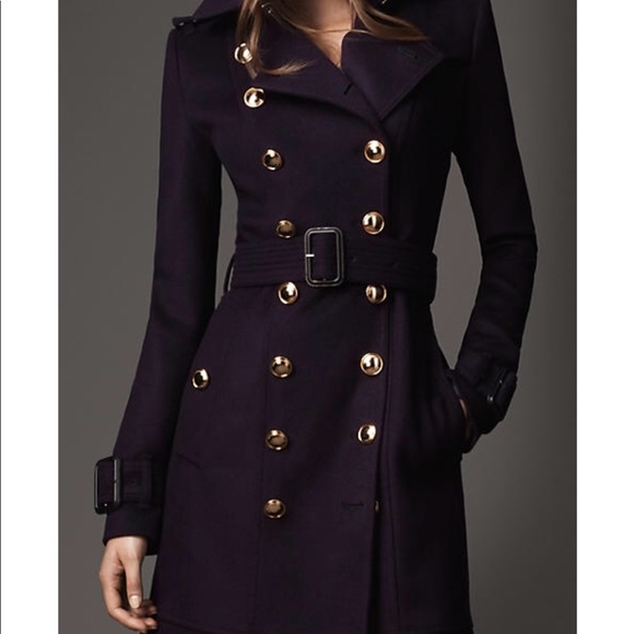 76fb3d41940b Authentic Burberry Navy Double-breasted Wool Coat